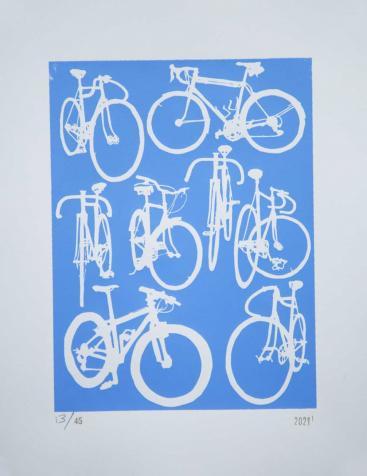 bicycle chart print