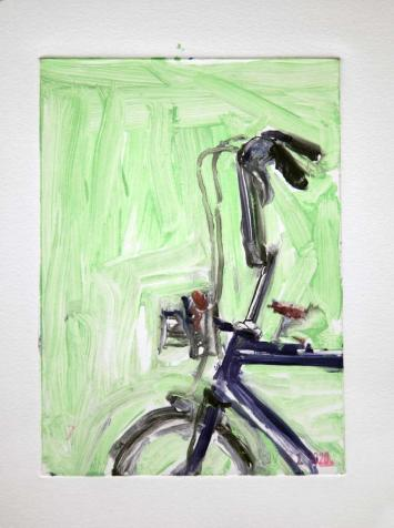 Raleigh Chopper  - Bicycle Art Monoprint