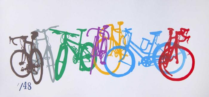 Bicycle Art Silhouettes