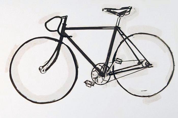 old style track bike