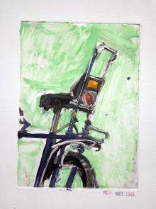 Raleigh Chopper  - Bicycle Art Monoprint